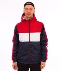 Southpole-Wind Series Jacket Color Block Windbreaker Kurtka Wiatrówka Red