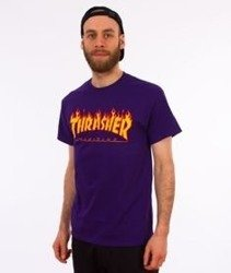 Thrasher-Flame T-Shirt Purple