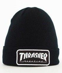 Thrasher-Logo Patch Beanie Czarny