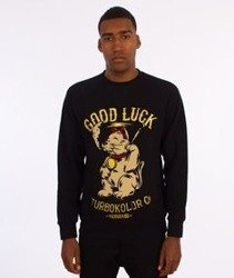 Turbokolor-Lucky Cat Crewneck Bluza Czarna