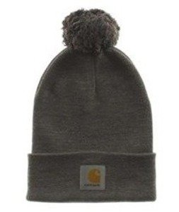 Carhartt-Bobble Watch Hat Czapka Zimowa Dark Grey Heather