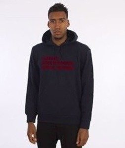 Carhartt-Hooded Bold Type Sweat Navy/Deep Red