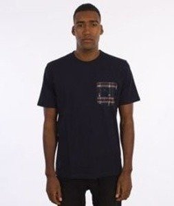 Carhartt-Lester Pocket T-Shirt Navy/Carlos Check-Jupiter