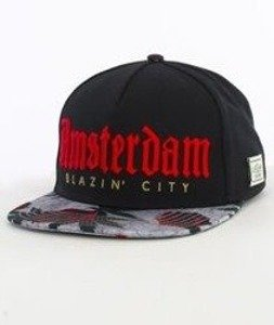 Cayler & Sons-Amstredam Cap Snapback Black/Concrete Roses/Red
