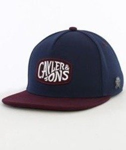 Cayler & Sons-Wavey Cap Snapback Navy/Maroon/White
