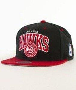 Mitchell & Ness-Team Arch Atlanta Hawks Snapback NA80Z Czarny/Czerwony