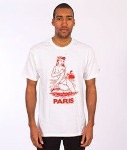 Stussy-Aloha Cities Tee White/Red