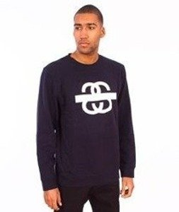 Stussy-SS Taped Crewneck Navy
