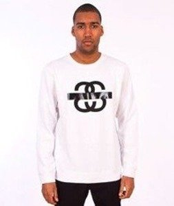 Stussy-SS Taped Crewneck White