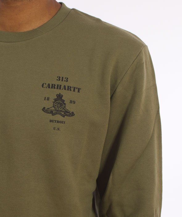 Carhartt-Artillery Sweatshirt Cotton Rover Green/Black