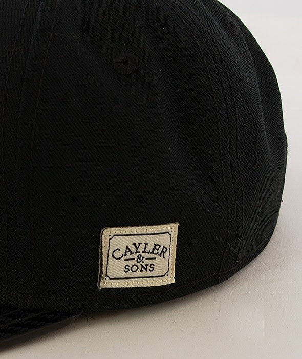 Cayler & Sons-No.1 Cap Black/White/Carbon