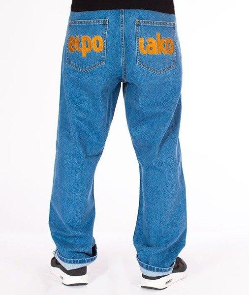 dobrze out x niższa cena z Data wydania: El Polako-Classic Spodnie Baggy Jeans Light Blue