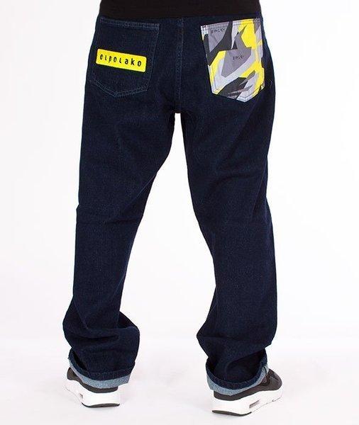 buty do biegania wykwintny styl super tanie El Polako-Moro Triangle Spodnie Baggy Jeans Dark Blue