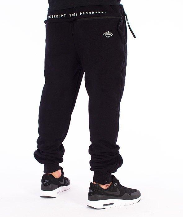 Intruz-Intruz Sweatpants Spodnie Dresowe Czarne