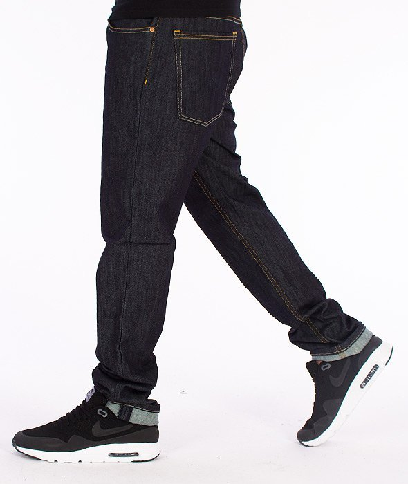 KR3W-K-Slim Spodnie Jeans Raw Blue