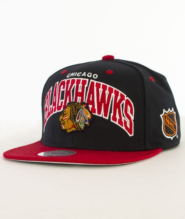 Mitchell & Ness-Team Arch Chicago Blackhawks Snapback ND12Z Czarny/Czerwony