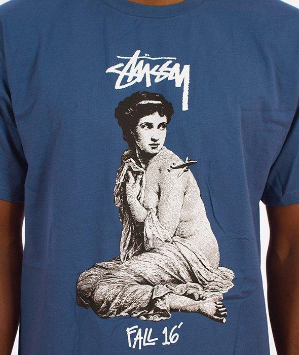 Stussy-Lady Rome T-Shirt Stalowy