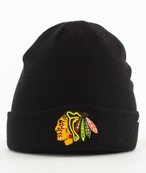 47 Brand-Chicago Blackhawks Cuff Knit Czapka Zimowa Czarna