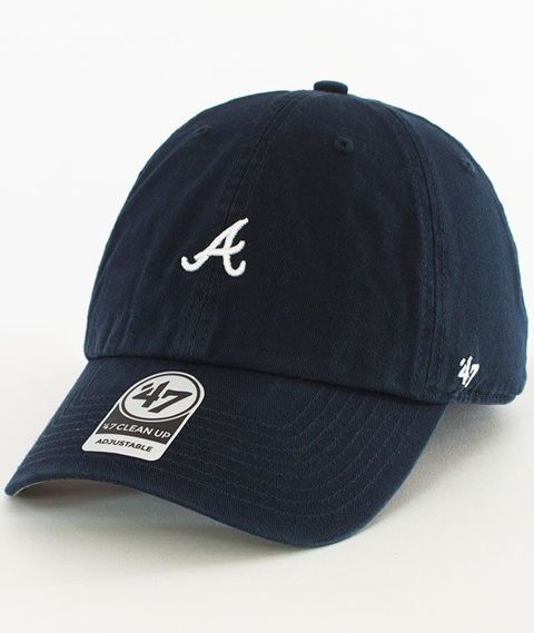 47 Brand-Clean Up Atlanta Braves Czapka z Daszkiem Granatowa