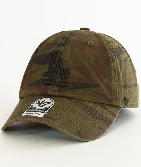 47 Brand-Clean Up Los Angeles Dodgers Czapka z Daszkiem Camo