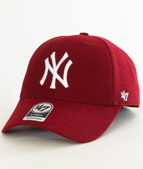 47 Brand-MVP New York Yankees Czapka z Daszkiem Bordowa