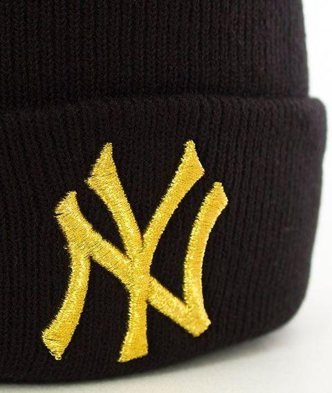 47 Brand-New York Yankees Metallic Czapka Zimowa Czarna