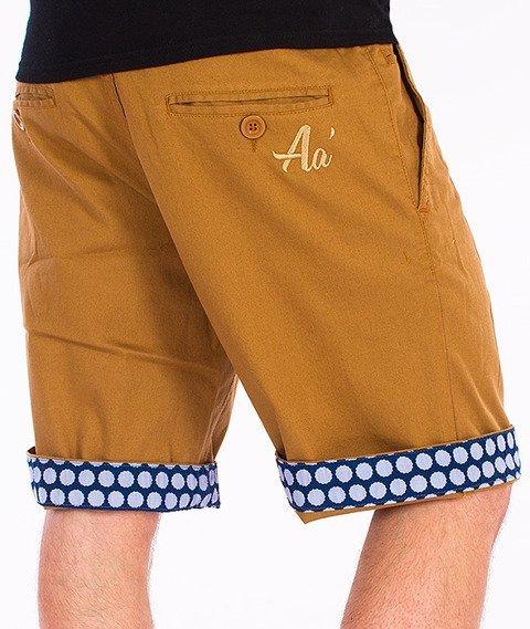 Alkopoligamia-Aa' Short Chinos Spodnie Krótkie Miodowe