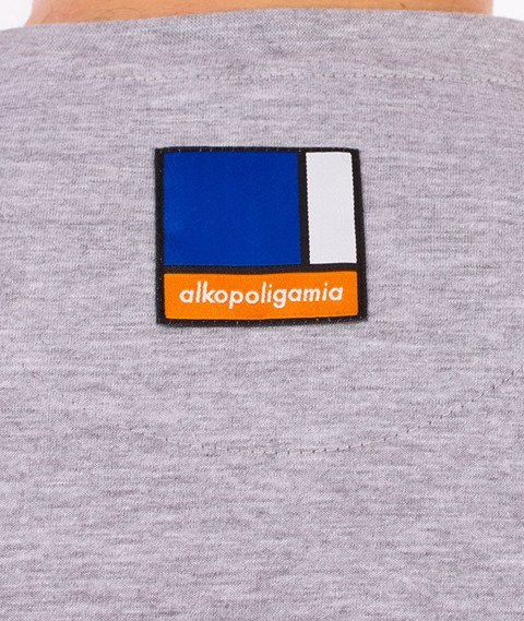Alkopoligamia-Box T-Shirt Szary