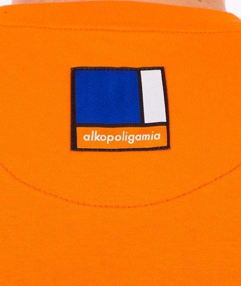 Alkopoligamia-Classic T-Shirt Pomarańczowy