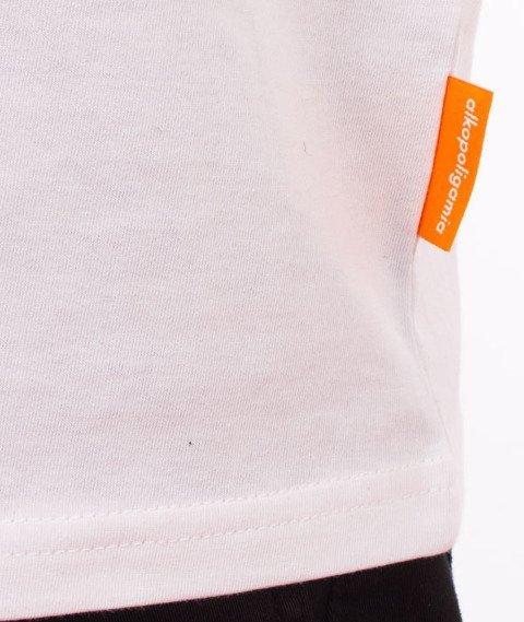 Alkopoligamia-Flag T-Shirt Biały