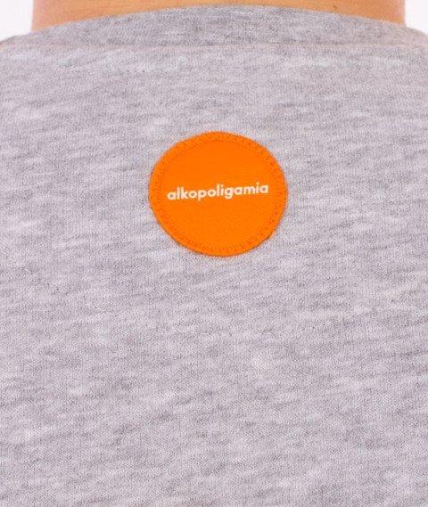 Alkopoligamia-Flame Bluza Szara/Pomarańczowa