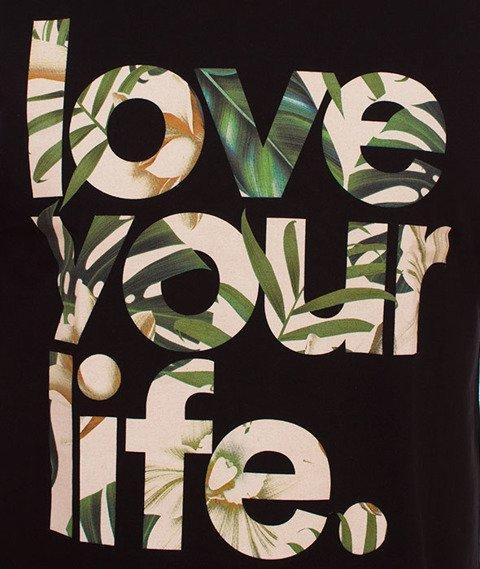 Alkopoligamia-Loveyourlife Botanix T-Shirt Czarny