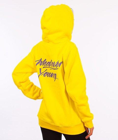 Alkopoligamia-Whatever Young Brain Bluza Kangurka Żółta