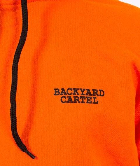 Backyard Cartel-Back Label Hoody Bluza Kaptur Pomarańczowa