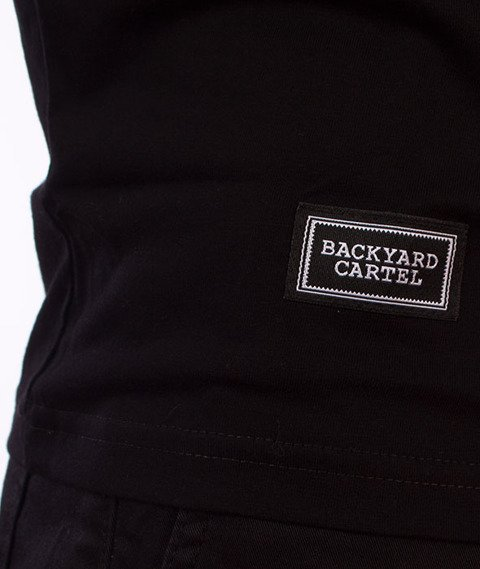 Backyard Cartel-Back Label T-Shirt Czarny