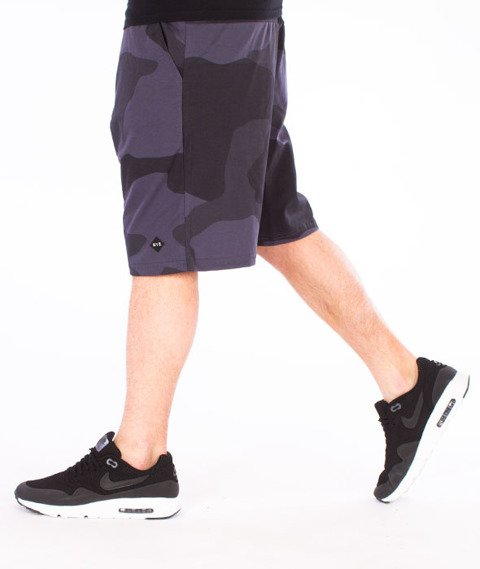 Backyard Cartel-Big Woodland Shorts Szare Camo