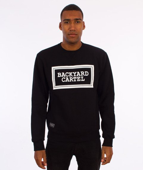 Backyard Cartel-Label Logo Crewneck Bluza Czarna