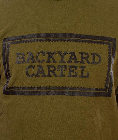 Backyard Cartel-Label Logo Crewneck Bluza Khaki