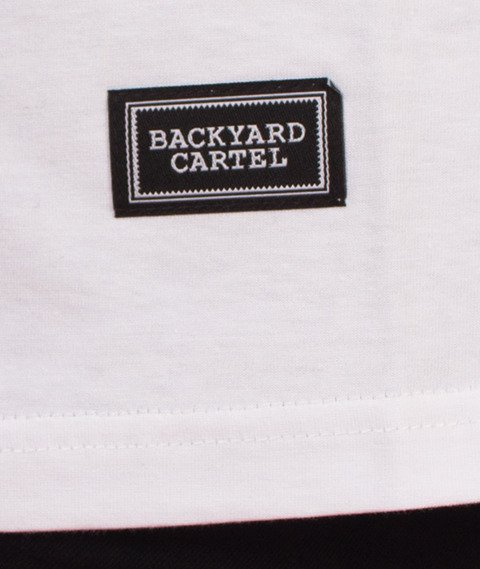 Backyard Cartel-Label Logo T-Shirt Biały