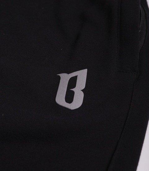 Biuro Ochrony Rapu B Spodnie Dresowe niedrapane Czarny