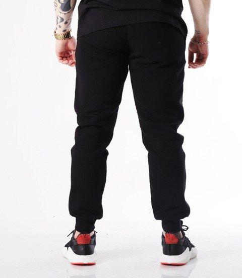 Biuro Ochrony Rapu-Bor New Kwadrat Spodnie Dresowe Czarne