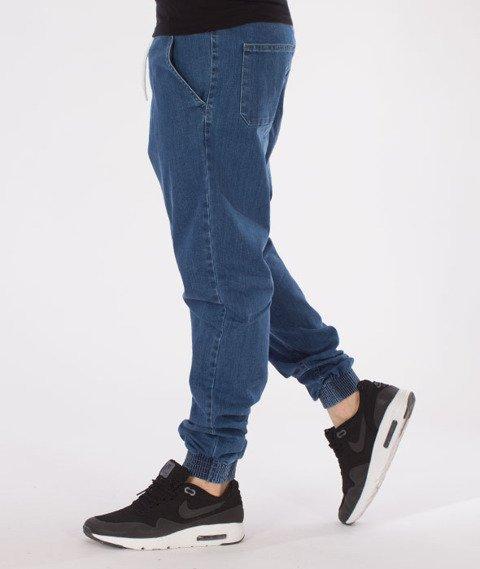 Biuro Ochrony Rapu-Jogger Fit Guma Strecz Spodnie B Outline Light Jeans