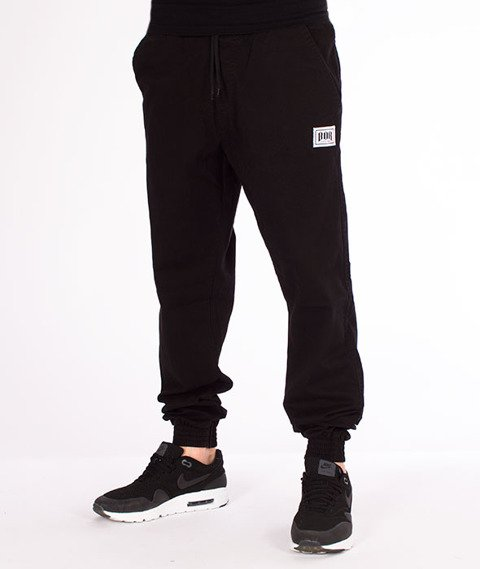 Biuro Ochrony Rapu-Jogger Fit Guma Strecz Spodnie BOR New Czarny Jeans