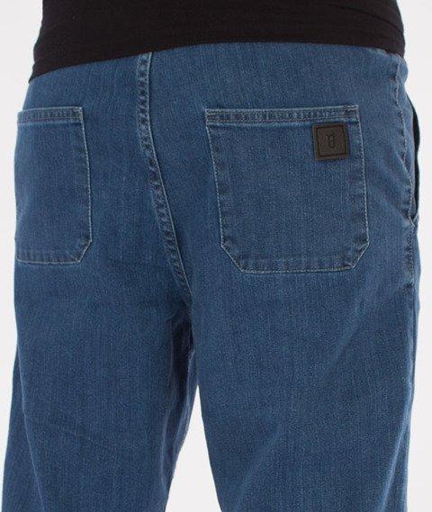 Biuro Ochrony Rapu-Jogger Fit Guma Strecz Spodnie Borcrew Light Jeans