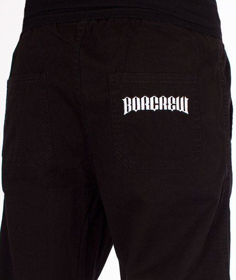 Biuro Ochrony Rapu-Jogger Fit Guma Strecz Spodnie Classic Borcrew Black