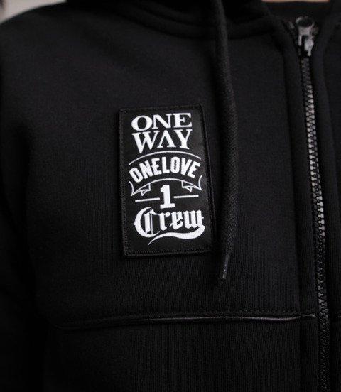 Biuro Ochrony Rapu-One Way Bluza Kaptur Zip Czarny