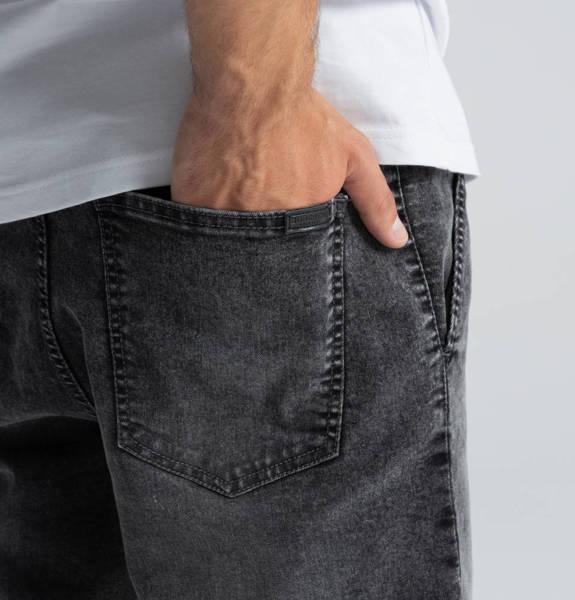 Biuro Ochrony Rapu SKIN Krótkie Spodnie Jeans Szary przecierany