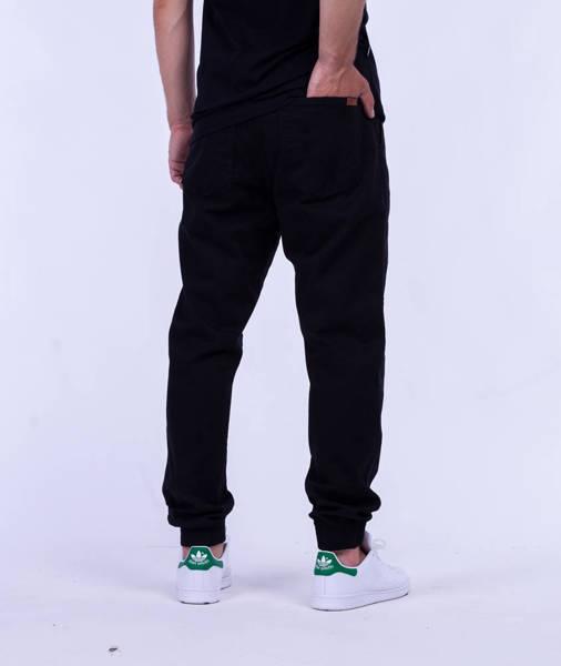 Biuro Ochrony Rapu SKIN Spodnie Jogger Guma Czarny
