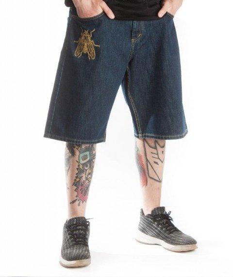 Brain Dead Familia-BDF Spodnie Krótkie Jeans Dark