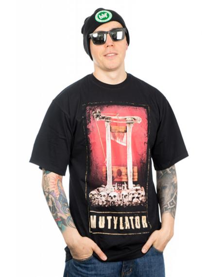 Brain Dead Familia-Guillotine T-shirt Czarny